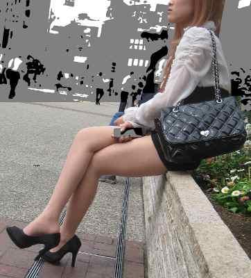 街角の美脚【G068】-50枚セット