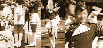 カラーガード街撮り画像!【ソフトブーツ】【ミニスカ】綺麗に演舞画像!