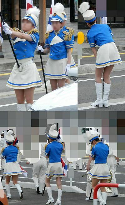 カラーガードユニフォーム画像【美しい立ち姿】演舞前待機!