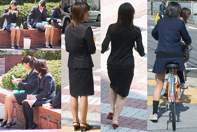 制服OLと制服JK交差点定点街撮り画像!