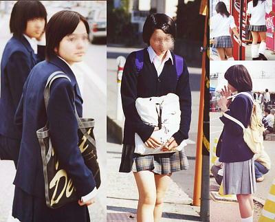女子高生制服街撮りが完全にJKにバレてるバージョン!