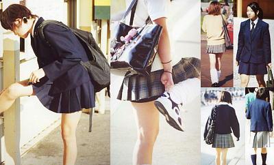 女子高生制服街撮り画像!ルーズソックス全盛期!