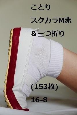 ことり スクカラM赤&三つ折り(153枚)16-8