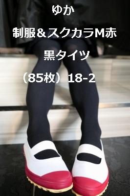 ゆか 制服&スクカラM赤 黒タイツ(85枚)18-2