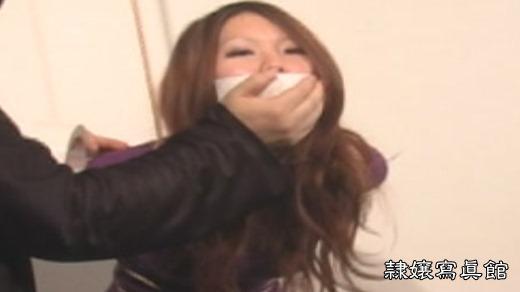 夏川梨花 七色のテープギャグ - 白いテープギャグ