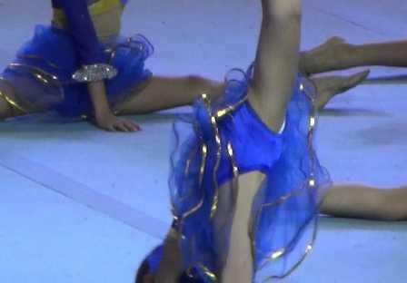 【俺目線のバレエ】『小さな喜び組』バレエ★JSチア★白タイツ★生あし★レオタの具だくさん