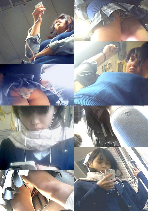 通学中に何度も撮られるJKちゃんセット 4