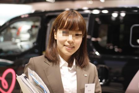 【貴重】展示会で「NISSAN」説明員の顔ドアップ!!