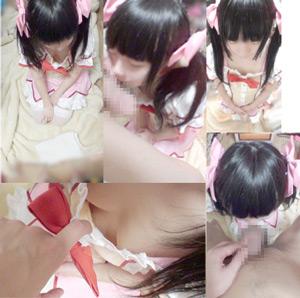 (動画)本物C学生に魔法少女まどかマ●カのコスプレさせてフェラ抜き(手コキ 乳首舐めも)