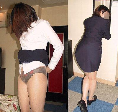 リクルートスーツ着用セフレ素人モデル画像