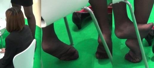 足の裏,靴脱ぎ,黒タイツ,脚フェチ,足フェチ,黒ストッキング,コンパニオン,つま先,パンプス, Download