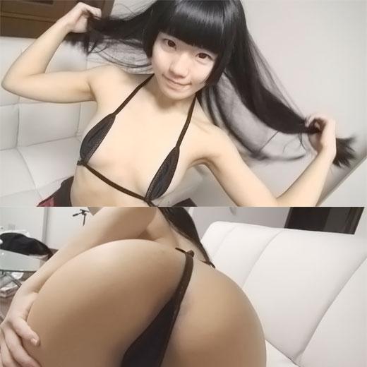 【ギャル】女子校生スタイルの黒ギャルAIKAにホテルでフェラを