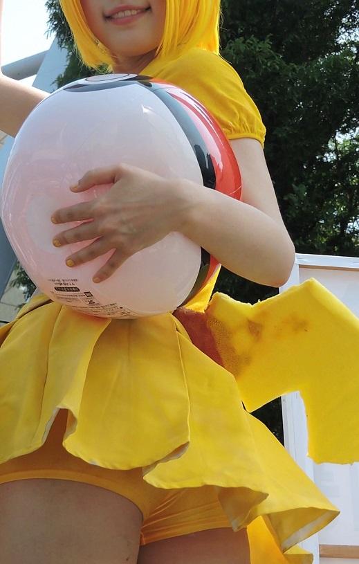 コスプレ2016夏下から撮影全身黄色スカートの中も黄色【動画】イベント編 2909 ダウンロード