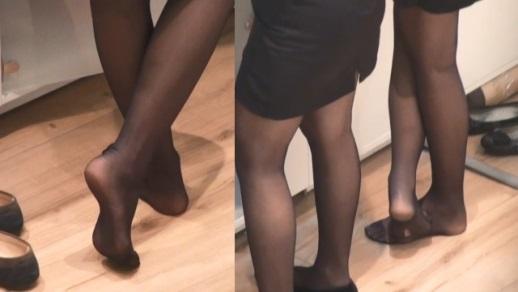 足の裏,靴脱ぎ,脚フェチ,足フェチ,パンスト,黒ストッキング,OL,つま先,パンプス, Download