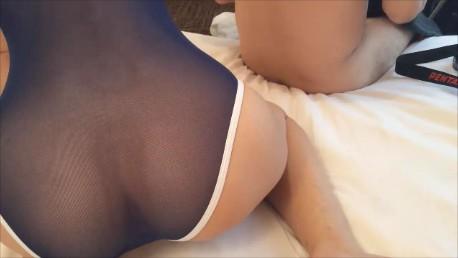 透け透けスクール水着のアップ映像【素人美人コスプレ個人撮影会】
