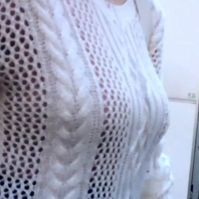 色白でヤングな着衣巨乳様にメロメロ!