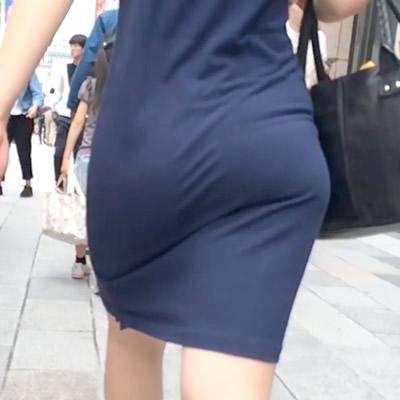 丸くて大きくて可愛い着衣お尻様に遭遇!