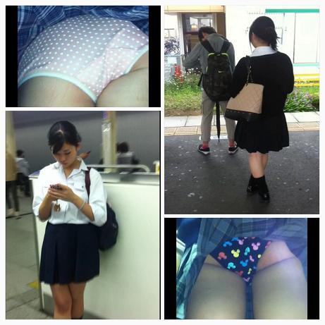 【JK25人めくり+姿撮り】奥義スカートめくりパンチラpart4