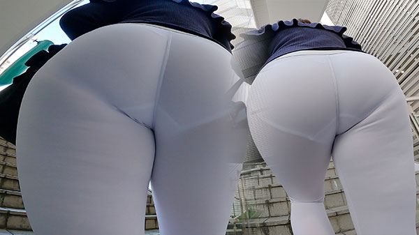 [Full HD] Prevent see-through! When you put white panties on whi