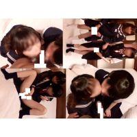 【1】学校帰り制服姿のロリレズが訳あり援● C処女含む