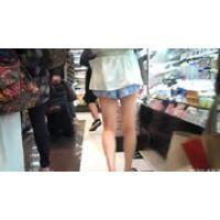 スーパーで買い物中の太股にそそられて
