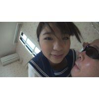 可愛いクセして躊躇なく脂ぎった顔を舐める女子(完全オリジナル)