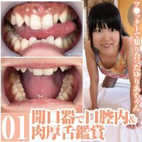 A beautiful oral cavity and thick tongue of Yuri that I met with