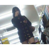 HD高画質 イケない10代黒髪少女の花柄パンツを盗撮!!
