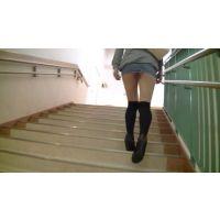 [HD]むち尻おねえさん  デニムミニ 階段編 完全オリジナル作品