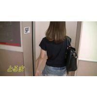 [HD]私服JD追っかけ〜ストー○ング エレベーター編 完全オリジナル作品