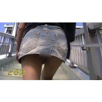 [HD]私服JD追っかけ〜ストー○ング 歩道橋編 完全オリジナル作品