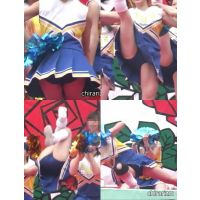 【JKチア】丸見え青アンスコに釘付け! イベントチアガール Vol.05