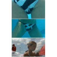 SP77ほしりの水中動画(白黒ビキニ 股間アップ)