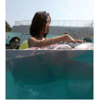 SP39ほしりの水中動画(花柄の股間)