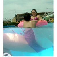 SP67ほしりの水中動画(紫ビキニ 大股開き)