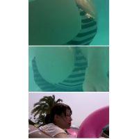 SP61ほしりの水中動画(ピンクボーダ OL 浮き輪M字)