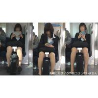 [無劣化FHD]電車からの風景〜ハーフ美女、股開きすぎで常にパンスト越しの丸見えパ○ツ���セット(フルHD)