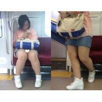[無劣化FHD]電車からの風景〜常に見えてるパ○ツ、ぽっちゃり美人です♪(フルHD)