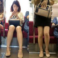 [無劣化FHD]電車からの風景〜美人美脚の白系パ○ツ(フルHD)