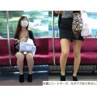 [無劣化FHD]電車からの風景〜カバンでは隠しきれないミニスカ(フルHD)