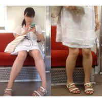 [無劣化FHD]電車からの風景〜清純娘の純白パ○ツ(フルHD)