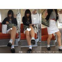 [無劣化FHD]電車からの風景〜足組んでる時も見え、降りる時にはガッツリ見せてくれるかわいいギャル(フルHD)