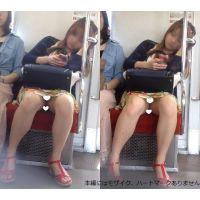 [無劣化FHD]電車からの風景〜まる見えミニスカぎゃる(フルHD)