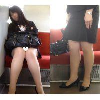 [無劣化FHD]電車からの風景〜かわいいムチムチOL(フルHD)