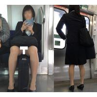 [無劣化FHD]電車からの風景〜ハーフ美女、股開きすぎで常にパンスト越しの丸見えパ○ツ�(フルHD)