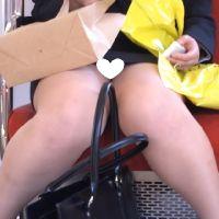 [無劣化FHD]電車からの風景〜新入社員の常に見えてるパ○ツと時々胸チラ(フルHD)