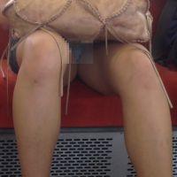[無劣化FHD]電車からの風景〜デニムミニで確実にパ○ツ見えてます��セット(HD)