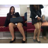 [無劣化FHD]電車からの風景〜美人外国人のパンストと丸見えパ○ツ�(フルHD)