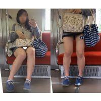 [無劣化FHD]電車からの風景〜スポーティ美女JDの丸見えチェックパ○ツ(フルHD)