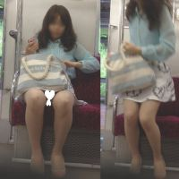 [無劣化FHD]電車からの風景〜熟睡で足開きすぎで丸見え(フルHD)
